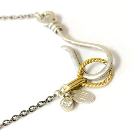 Sterling and Gold Recycled Material Necklace | Salvaged | Marvin Scott & Co.