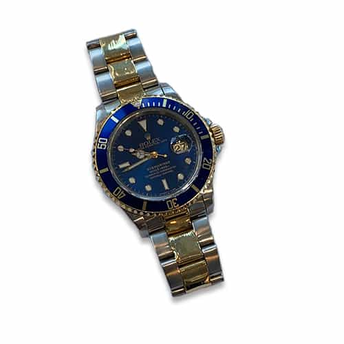 1997 Rolex Two Tone Submariner Blue Dial and Bezel