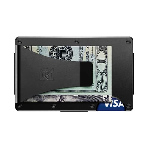 Aluminum - Black - Wallet with Money Clip | Marvin Scott & Co.