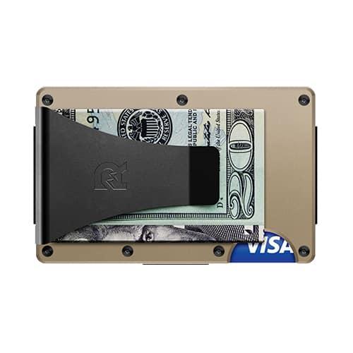 Aluminum - Desert Tan - Wallet with Money Clip | Marvin Scott & Co.