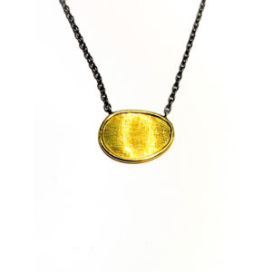 Sterling Silver & 18k Yellow Gold Necklace