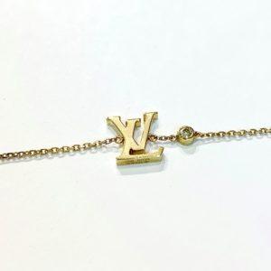 Louis Vuitton Logo and Diamond Bracelet at Marvin Scott & Co.