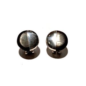 Tiffany & Co Sterling Silver and Ebony Earrings