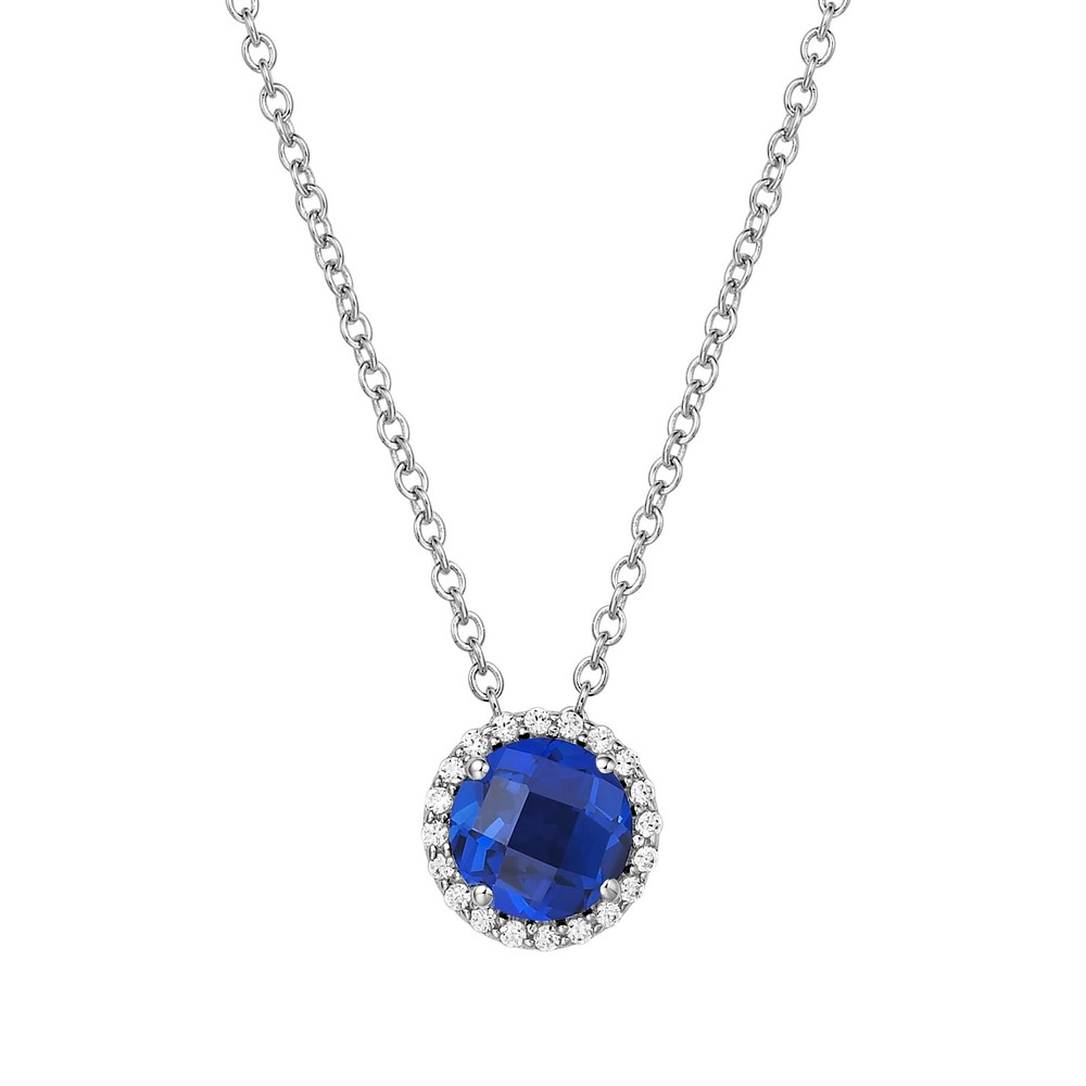Blue Sapphire Gemstone 925 Silver Necklace 18 | eBay